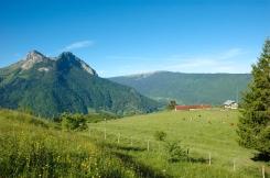 L'alpage et le mont Rossanaz